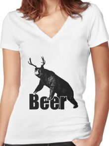 Beer Fun Women's Fitted V-Neck T-Shirt