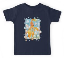 Blowing Bubbles With A Cute Fantail Goldfish Kids Tee