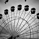 Fly above the Ferris Wheel by AngelaHumphries