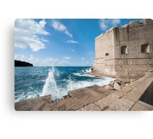 Dubrovnik Pier and Fortification Metal Print