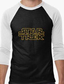 Star/Wars Trek - spoof logo Men's Baseball ¾ T-Shirt