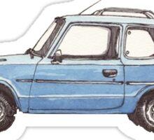 Small Blue Car Sticker