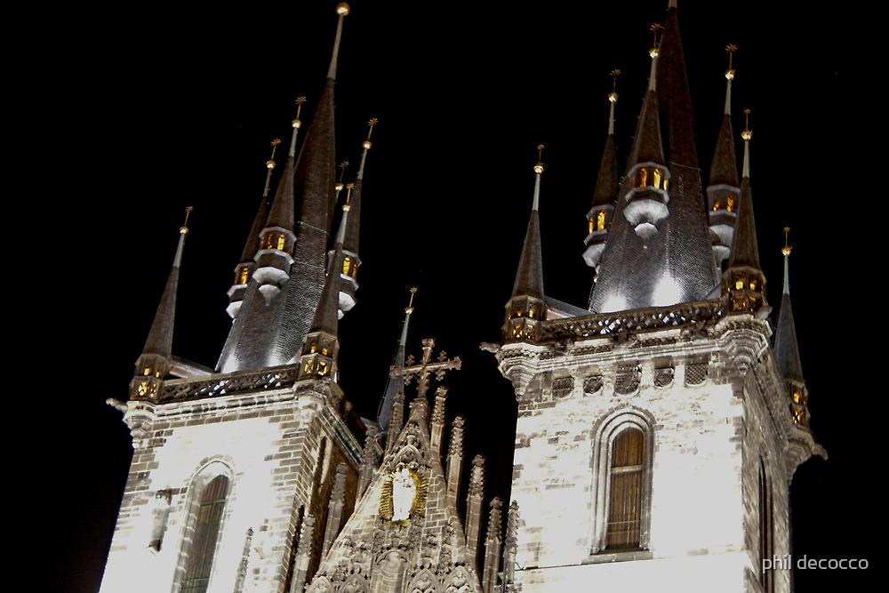 Tyn Church Towers by phil decocco