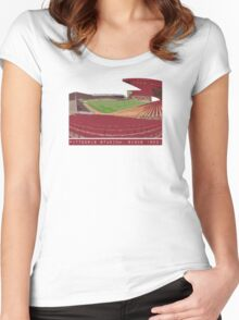 Pittodrie Stadium.  Home Women's Fitted Scoop T-Shirt