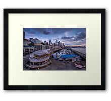 Seattle Bell Street Pier Framed Print