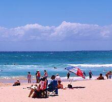 Burleigh Heads Beach Gold Coast Qld December 30 .2012 by Virginia  McGowan
