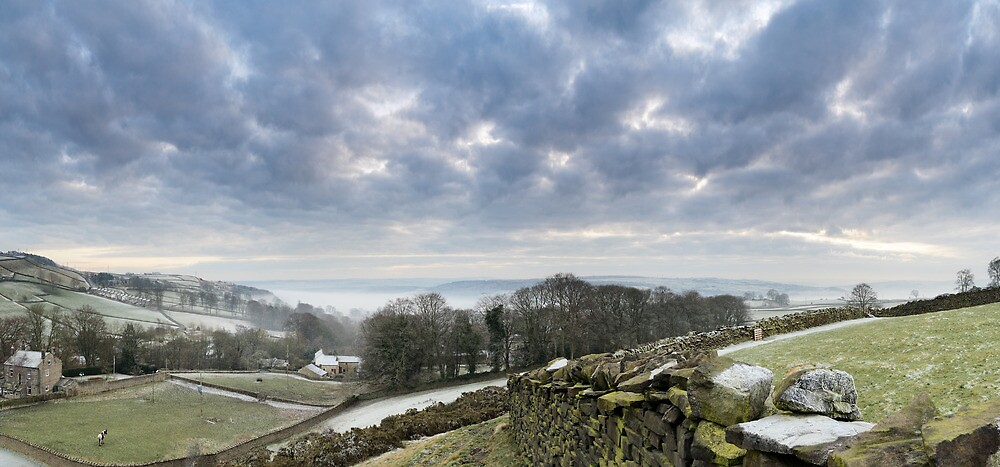 Airedale Lost in Fog from East Morton by Simon Bowen