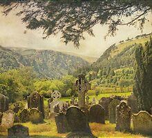Glendalough Cemetery - Ireland by EmvandeBee