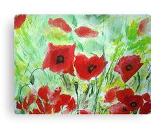 Poppy Field - Wall Art Canvas Print