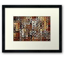 Tile Art #1, 2013. Modern Mosaic Tile Art Painting Framed Print