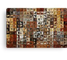 Tile Art #1, 2013. Modern Mosaic Tile Art Painting Canvas Print