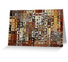 Tile Art #1, 2013. Modern Mosaic Tile Art Painting Greeting Card