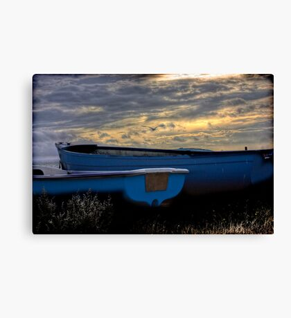 Canterbury fishing harbour  Canvas Print