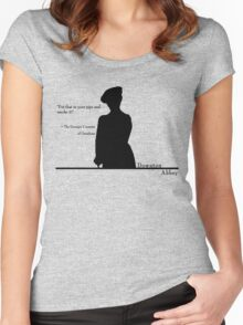 Put that in your pipe Women's Fitted Scoop T-Shirt