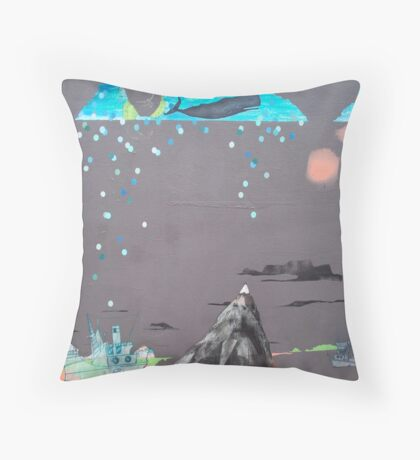 Oceans Are Like Mountains Turned Upside Down Throw Pillow