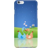 Cute Swan Couple Full of Love Heart iPhone Case/Skin
