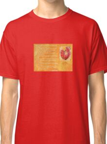We Two Are One Prose Valentine Greeting Classic T-Shirt