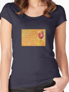 We Two Are One Prose Valentine Greeting Women's Fitted Scoop T-Shirt