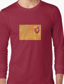 We Two Are One Prose Valentine Greeting Long Sleeve T-Shirt