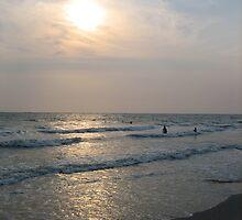 Sunset Over Bangsaen Beach by M-EK