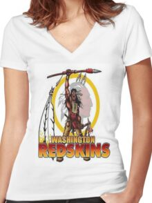 Redskins Tee Women's Fitted V-Neck T-Shirt
