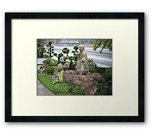 Buddhist Garden Framed Print