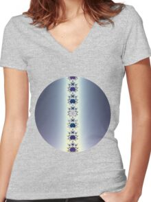 Purple Necklace Women's Fitted V-Neck T-Shirt