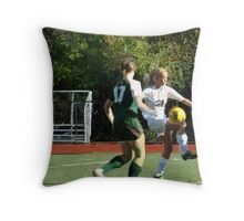092412 139 0 pointillist soccer Throw Pillow