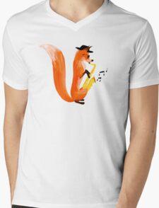 Jazzy Fox Mens V-Neck T-Shirt