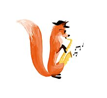 Jazzy Fox Photographic Print