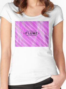 Flume Grafik 1  Women's Fitted Scoop T-Shirt