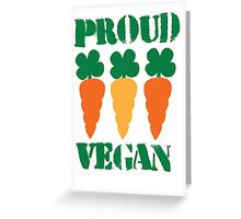 PROUD VEGAN Greeting Card