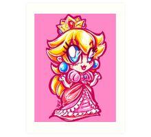 Chibi Princess Peach Art Print