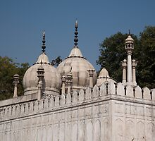 Minarets and structure of Pearl Mosque inside Red Fort by ashishagarwal74
