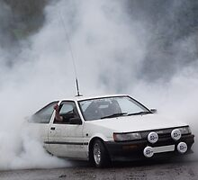 Toyota Corolla AE86 Burnout by Deccy43