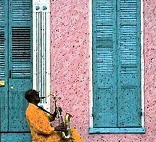 New Orleans French Quarter Blues Louisiana Artwork by Oldetimemercan