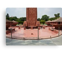 Base of the Jallianwala Bagh memorial in Amritsar Canvas Print