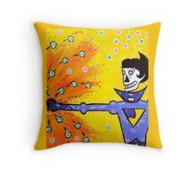 Wonder Twin Jayna Day of the Dead Throw Pillow