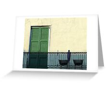 New Orleans French Quarter Shutters Doors Colors Louisiana Artwork Greeting Card