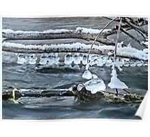 Ice Bells over Rock Creek, Twin Falls, Idaho, USA Poster