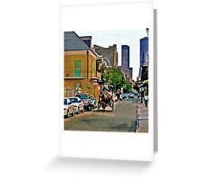 New Orleans French Quarter Carriage Louisiana Artwork Greeting Card