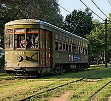 New Orleans French Quarter Streetcar Louisiana Artwork by Oldetimemercan