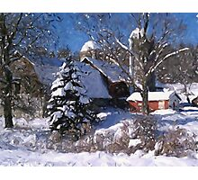 Barn Rural Farm Life Scene Poster Print And Card Photographic Print