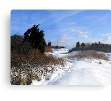 Rural Farm Life Snow Scene Poster Print And Card Metal Print