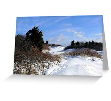 Rural Farm Life Snow Scene Poster Print And Card Greeting Card