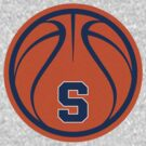 Orange Basketball - Cuse with Blue by cpotter