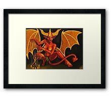 Monster Girl Challenge Day 9-Demon Girl Framed Print