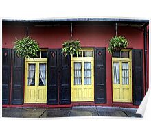 New Orleans French Quarter Shutters Doors Colors Louisiana Artwork Poster