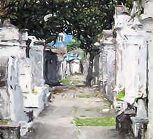 New Orleans French Quarter Cemetary Louisiana Artwork by Oldetimemercan