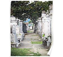 New Orleans French Quarter Cemetary Louisiana Artwork Poster